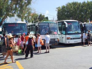 Getting around Mykonos by bus