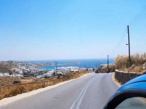 Getting around Mykonos by car