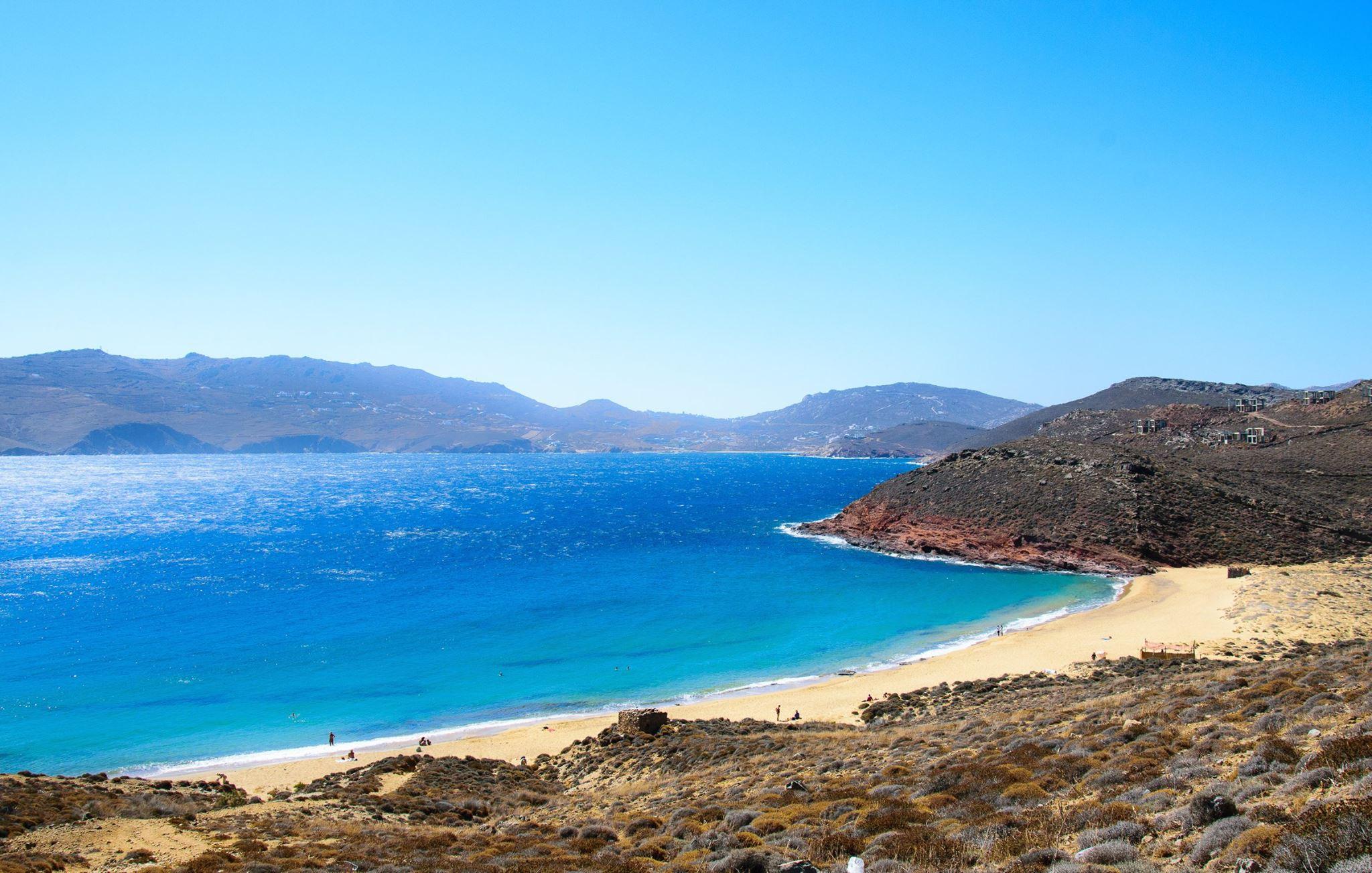 Best Beach In Mykonos In North Of Island