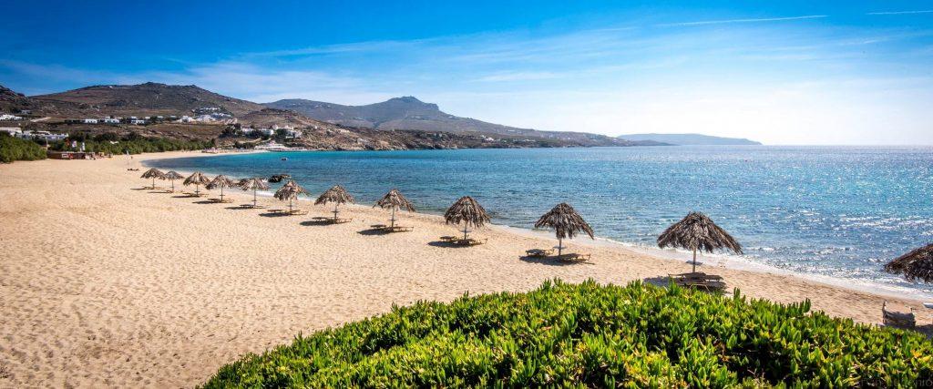 Best Island Beaches For Partying Mykonos St Barts: Kalafatis Beach In Mykonos Island, Greece