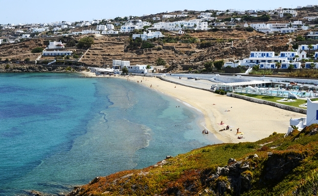 Megali Ammos beach Mykonos island, Greece - Mykonos Traveller