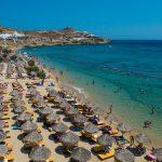Paradise beach in Mykonos island