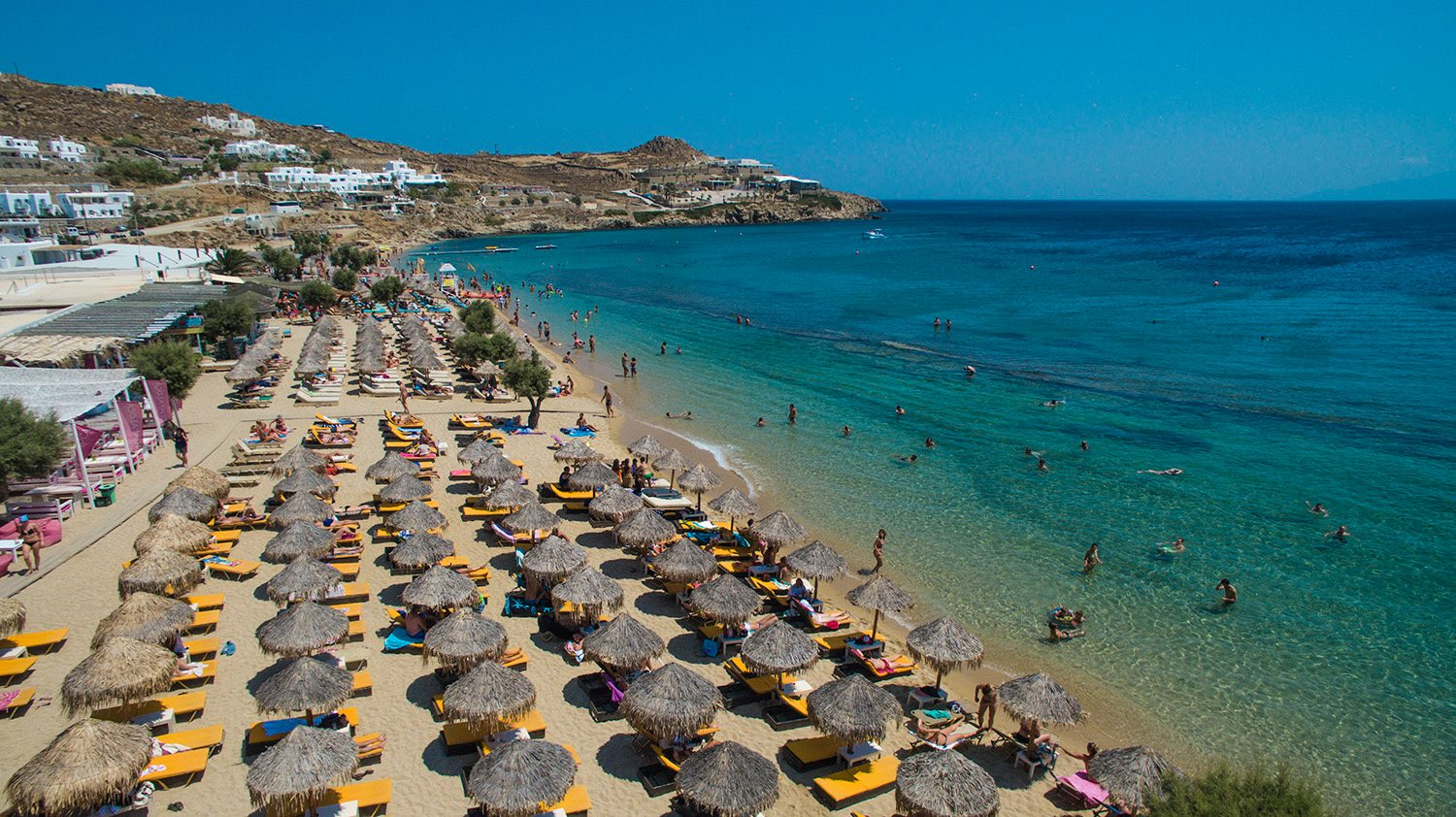 Best Island Beaches For Partying Mykonos St Barts: Paradise Beach In Mykonos Island, Greece
