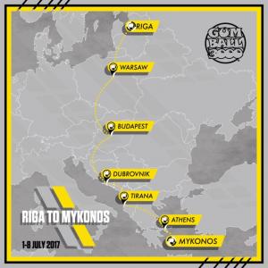 Gumball 3000 Riga to Mykonos
