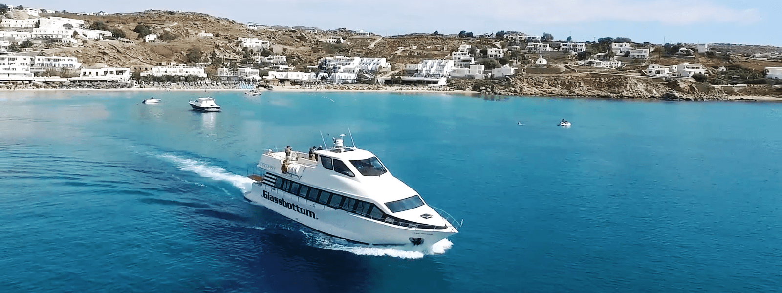 Discovery Glass Bottom Boat in Mykonos - Beach to Beach Cruise