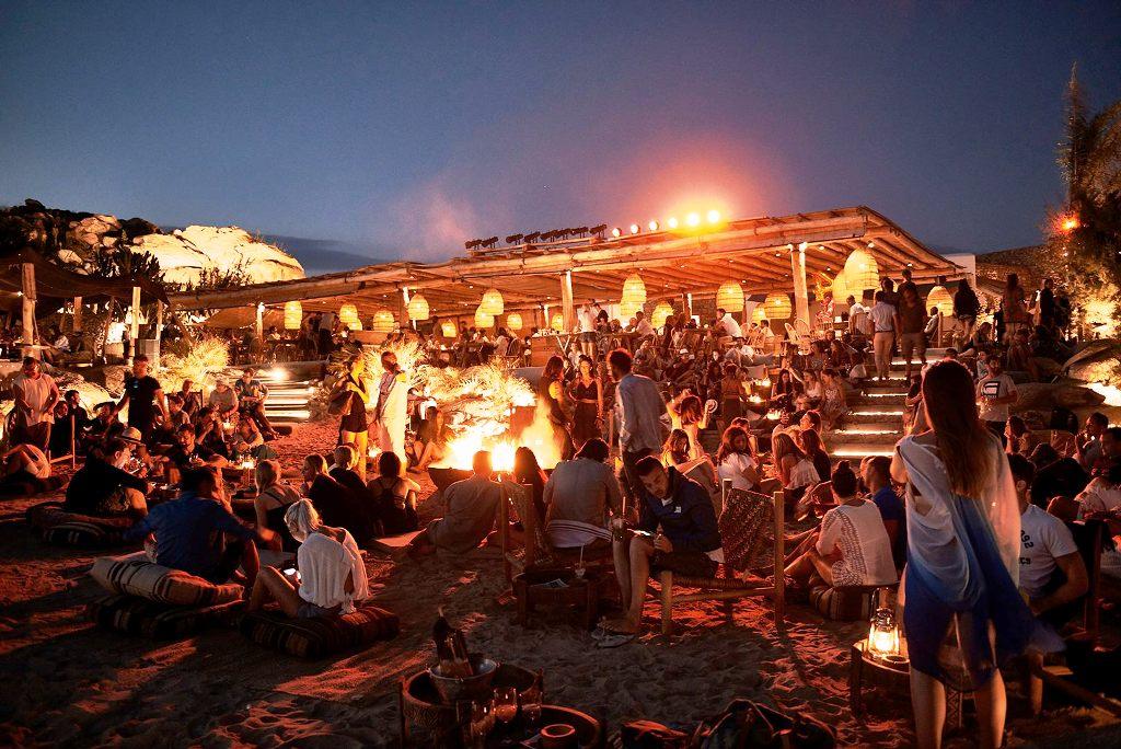 Scorpios Mykonos Restaurant and Beach Bar at Paraga beach