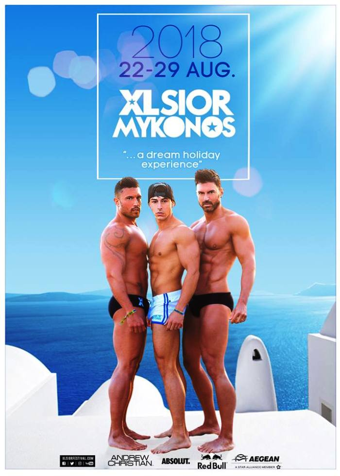 XLSIOR Mykonos 2018 Gay festival