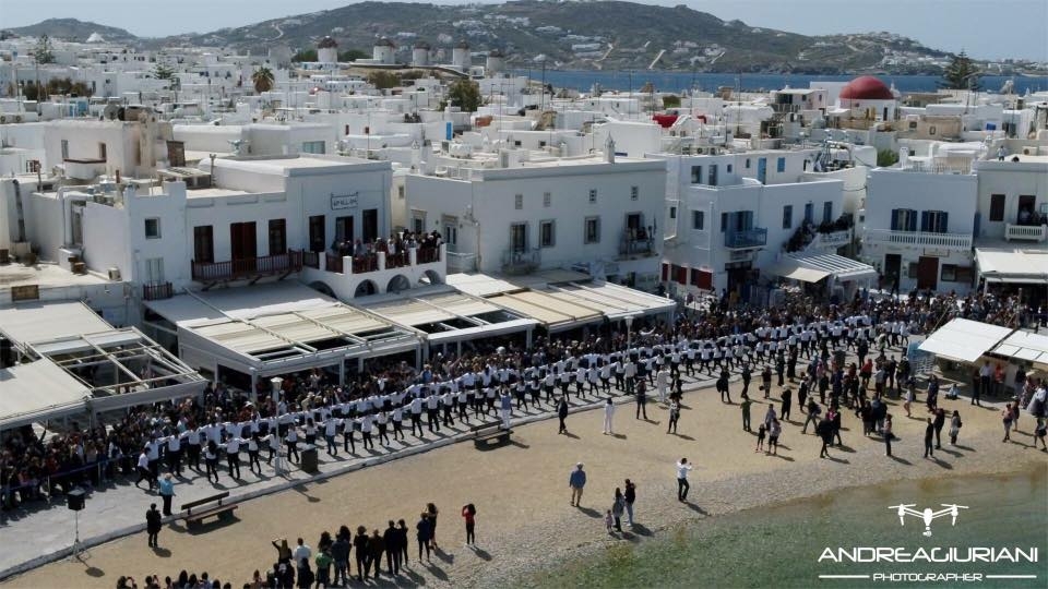 Hasapiko Greek Dance in Mykonos on Palm Sunday 2018!