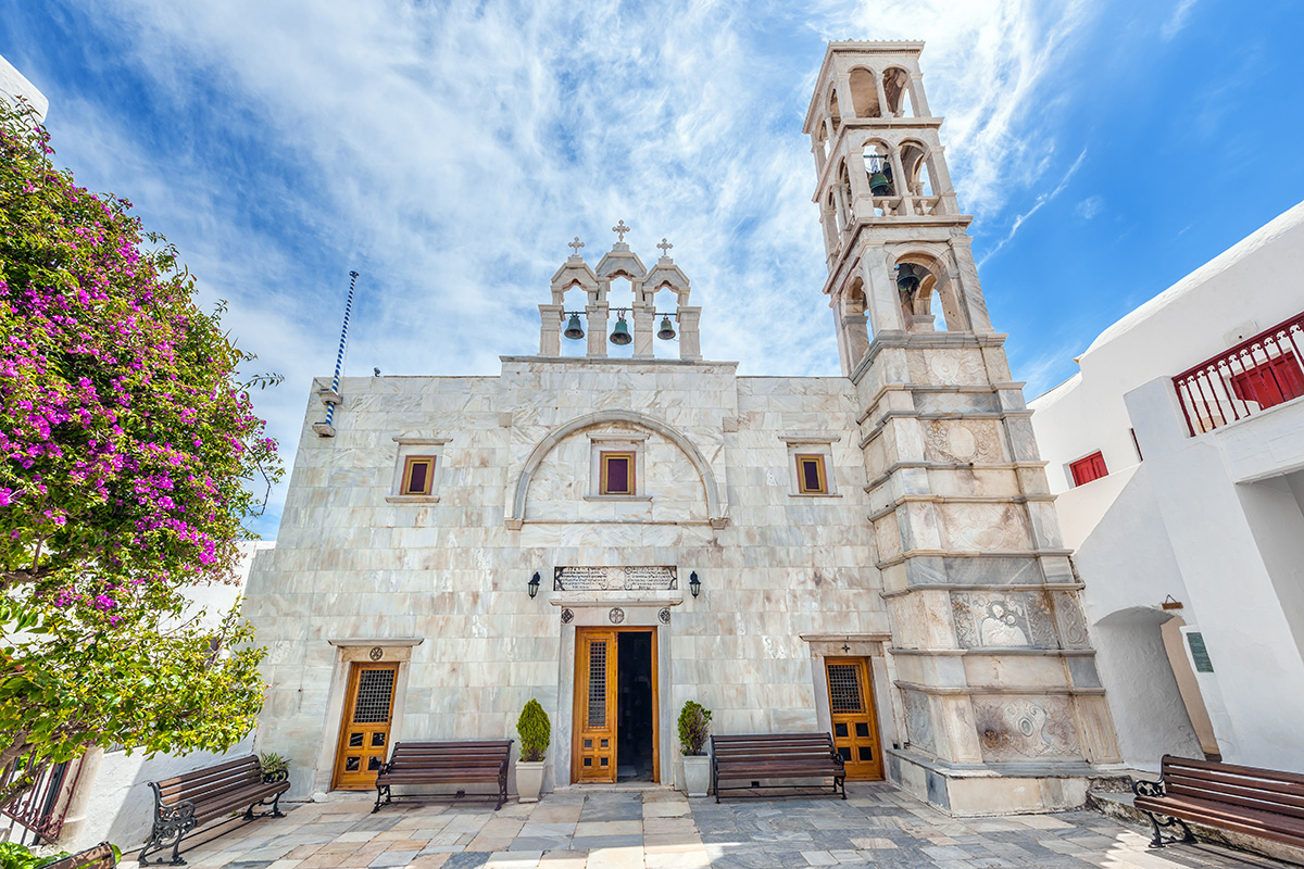 15th of August in Mykonos - Monasteri of Panagia Tourliani