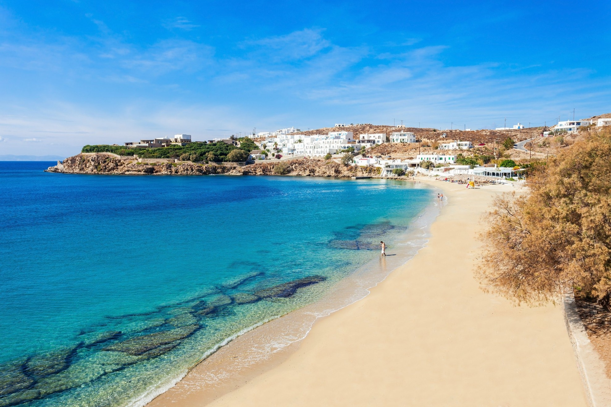 Agios Stefanos beach Mykonos island, Greece - Mykonos Traveller