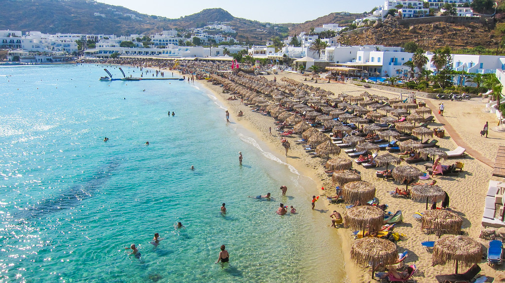 Platis Gialos beach in Mykonos island, Greece - Mykonos Traveller