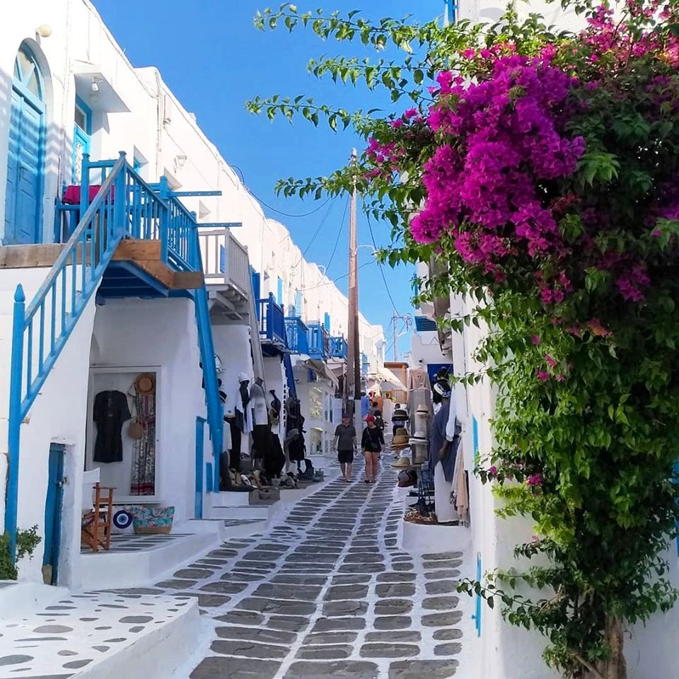 "Mykonos Colorful Street named ""Most Beautiful in the World"" by CNN!"