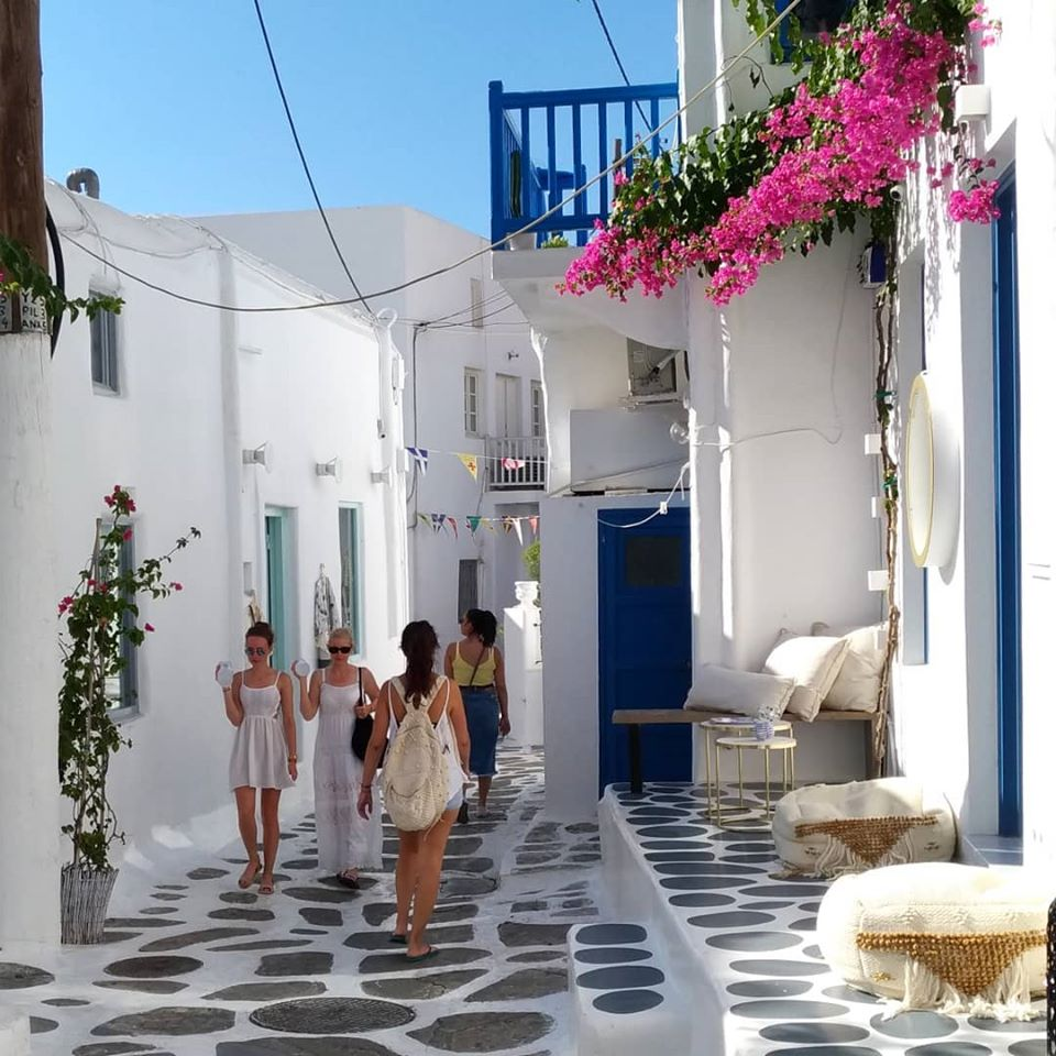 Mykonos Colorful Street