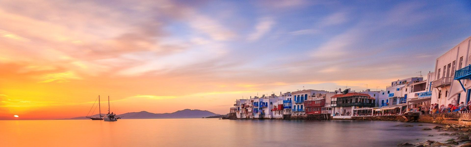 Rhenia & Sunset cruise from Mykonos | Boat Tour - Book at the best price
